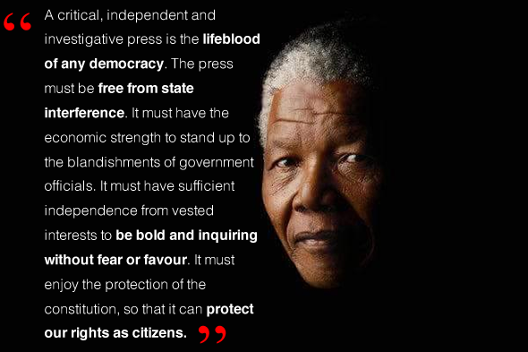 Nelson Mandela on the press