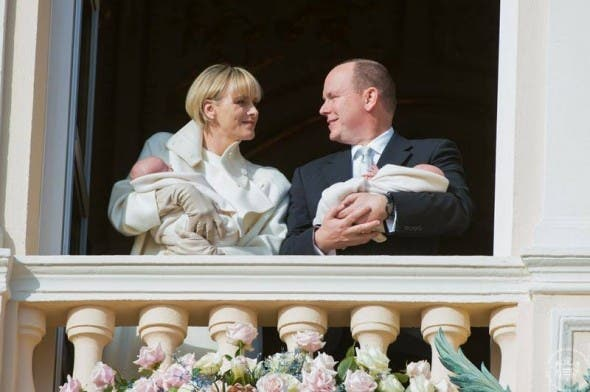 Princess Charlene and Prince Albert present royal twins to Monaco residents