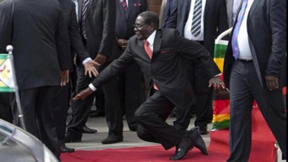 Robert Mugabe Stumbles