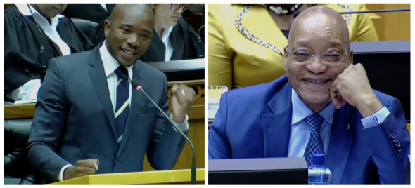 These screenshots capture the very moment that Maimane impassionately spoke