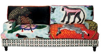 """The Qalakabusha – """"new beginnings"""" – sofa, which marked Ardmore's foray into fabric design. (Image: Ardmore Ceramics)"""