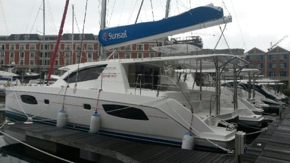 The catamaran, Sun Sail