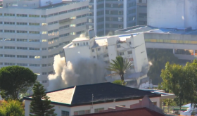 Tulip Hotel Demolished in Cape Town, South Africa