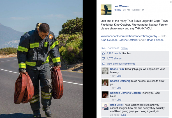 South African firefighter