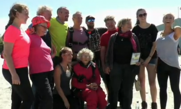 South African Grandmother Skydives to Celebrate 100th Birthday