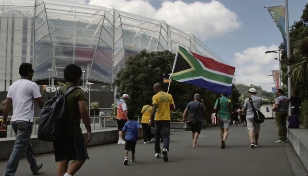 South African cricket supporters