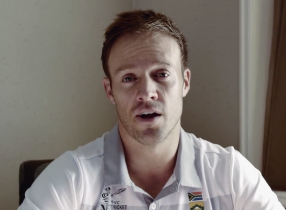 South African cricket captain AB de Villiers