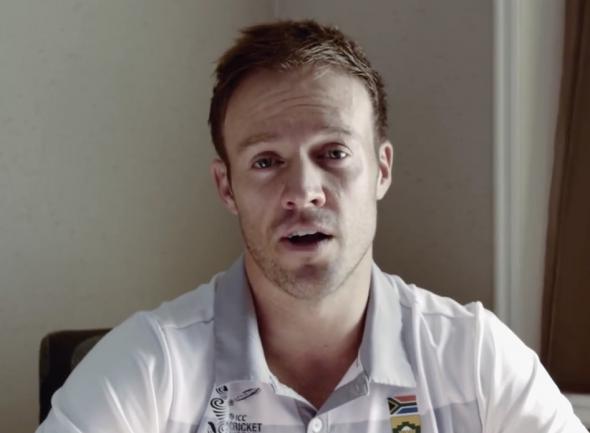 South African cricket captain AB de Villiers