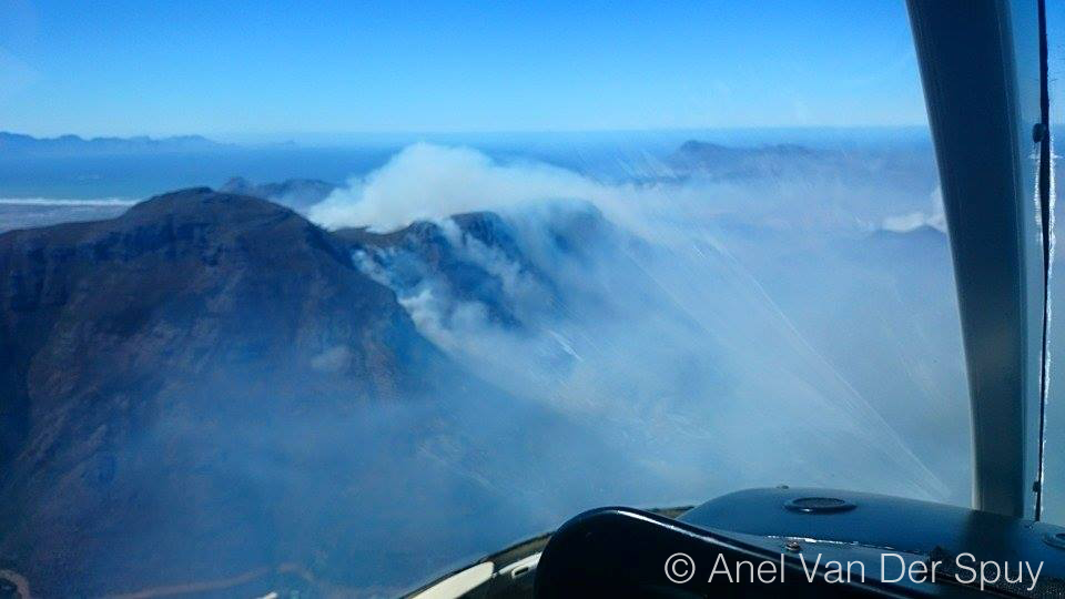 Cape Fire from the air. Photo: Anel Van Der Spuy