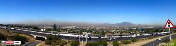 "Photo: Jana Brits - ""Cape Town fires still ablaze."""