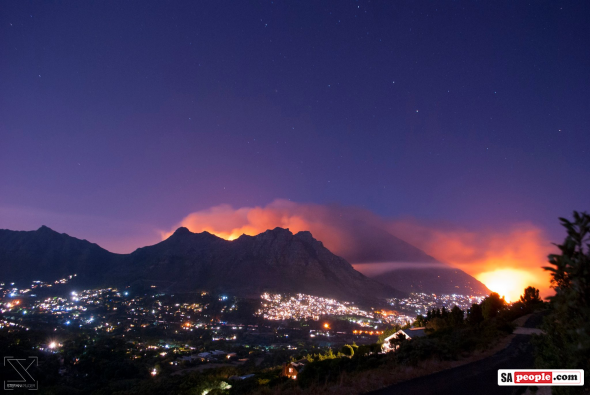 View last night from Little Lion's Head. Photo: Stefan Kruger.