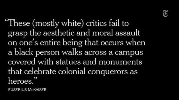 A quote from the New York Times piece by Eusebius McKaiser.