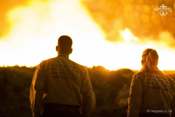 Brave men and women fighting fires