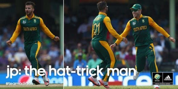 JP Duminy, hat-trick for South Africa, Cricket World Cup