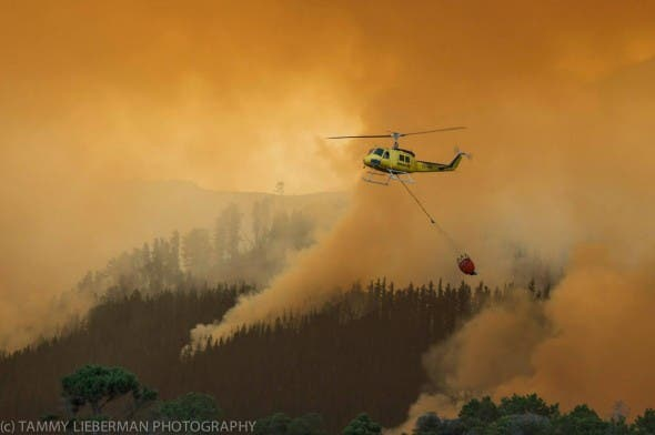 #CapeFire helicopter