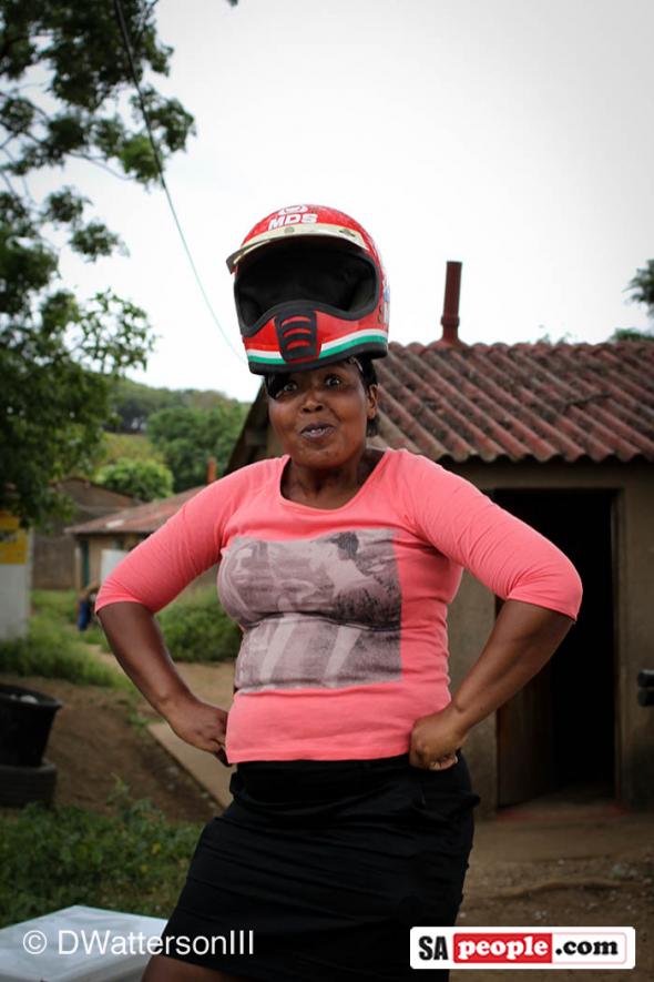Lady with Helmet