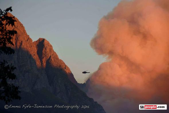 Fire in Stellenbosch