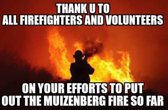 Thank you to Muizenberg firefighters