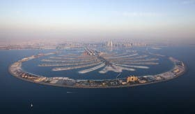 Palm Jumeirah aerial - MUST be credited courtesy of Nakheel