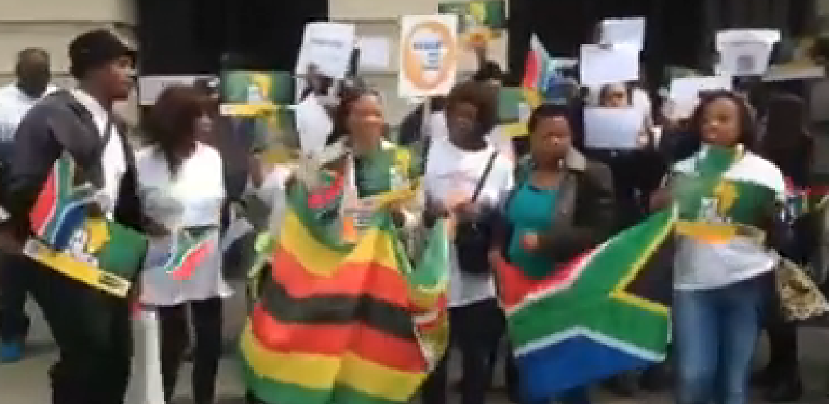 SA Expats march in London