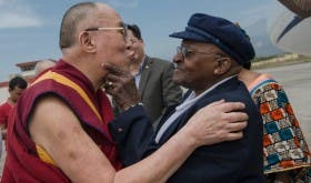 The Dalai Lama and Archbishop Desmond Tutu