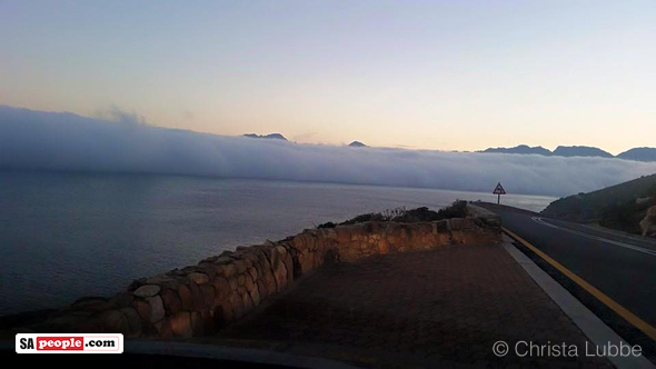 Mist over Cape Town