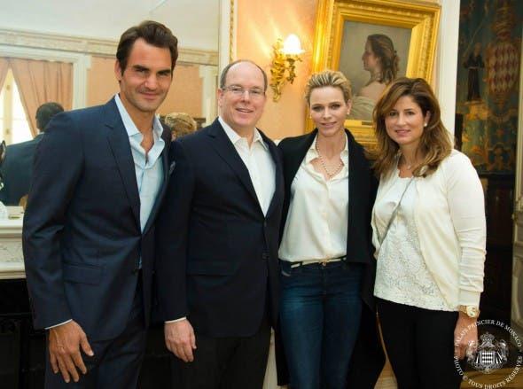 Princess Charlene and Roger Federer