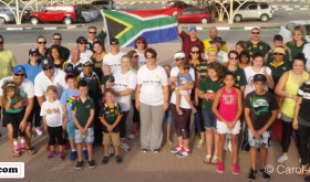 South Africans march in the UAE