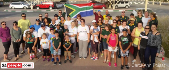South African expats march in the UAE