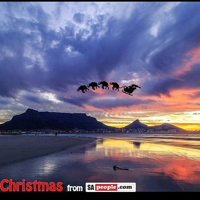 Spotted over TableMountain  SantaClaus with his sleigh pulled byhellip