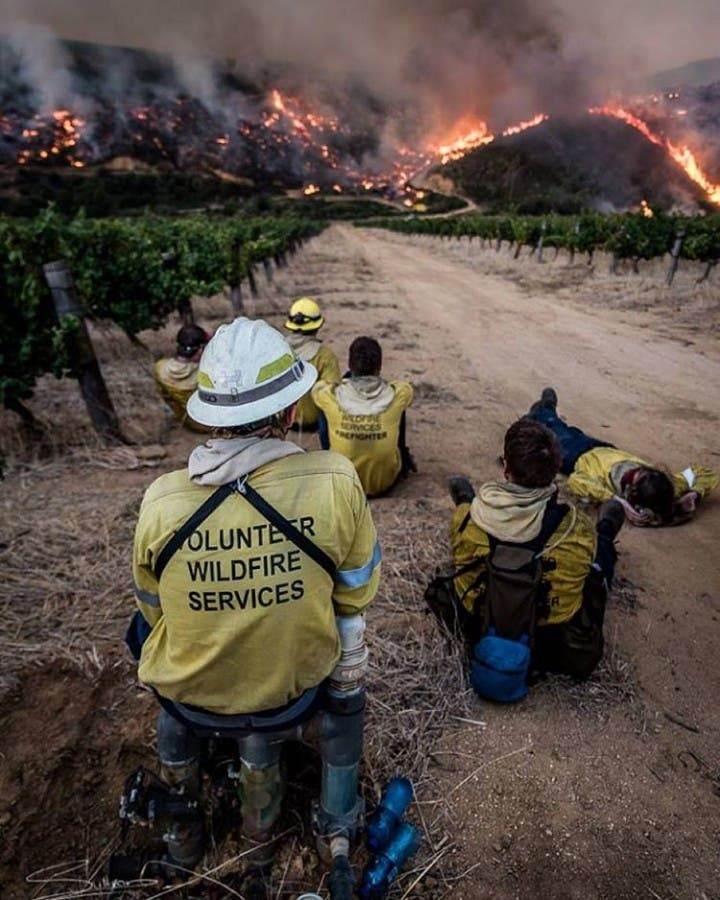 The SimonsbergFire blazed through the Stellenbosch Winelands Photo by hellip