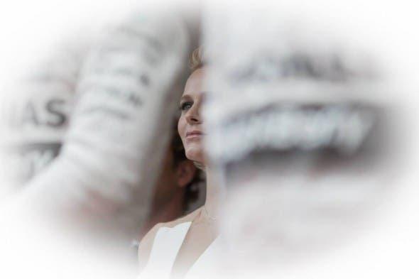Princess Charlene at the Monaco Grand Prix