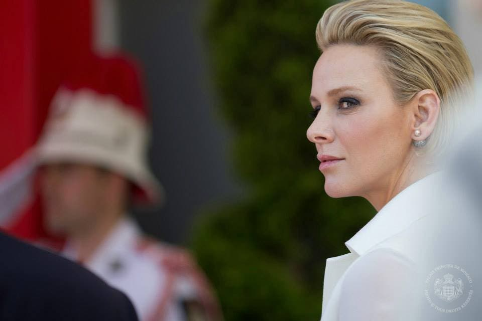 Princess Charlene at the Monaco Grand Prix