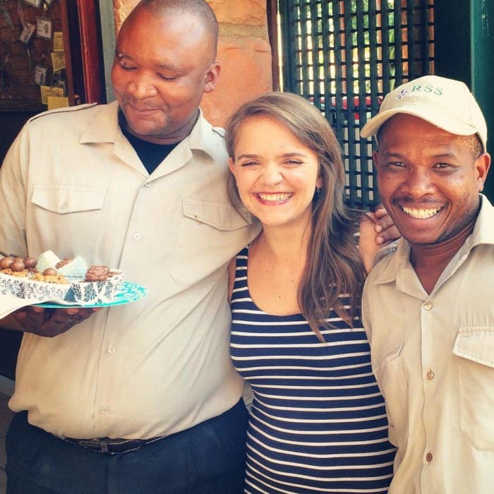 Girl with Cake, South Africa