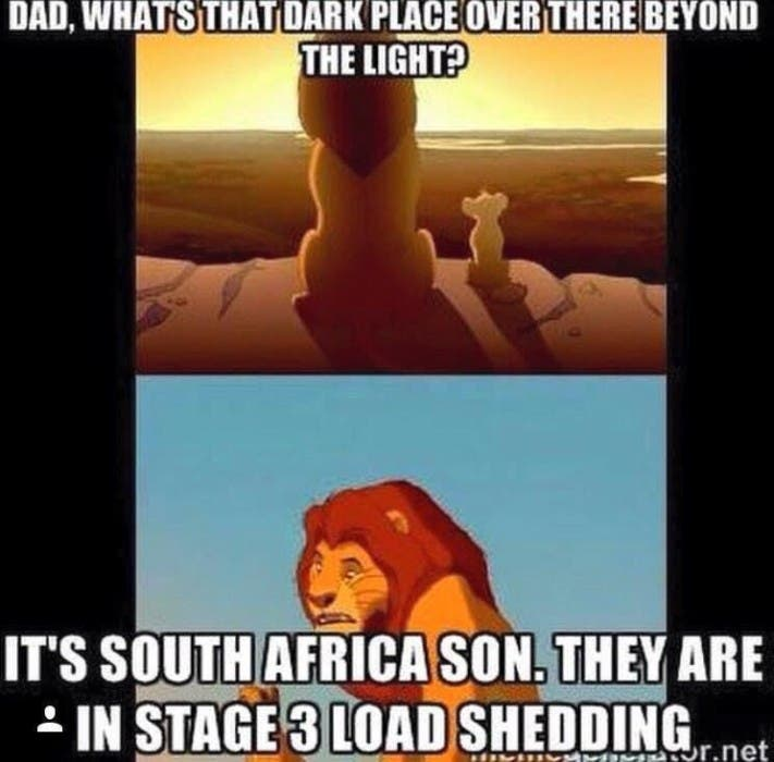 South African loadshedding jokes
