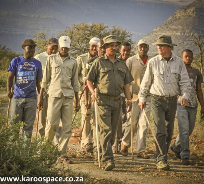 Pokkie Benadie on a Tracker Academy mission at Samara Private Game Reserve outside Graaff-Reinet.