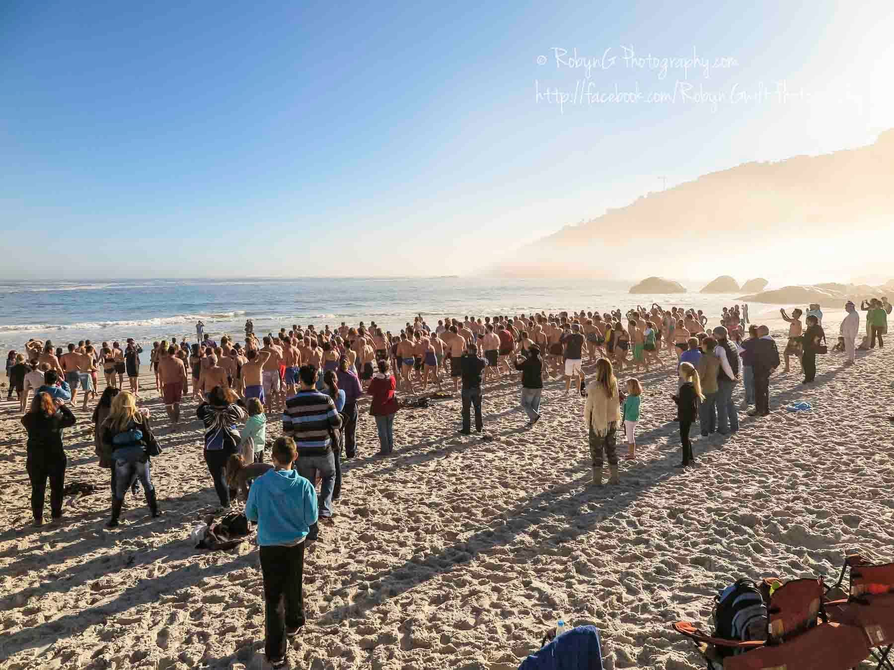 Polar Bear Challenge, Clifton Beach, South Africa