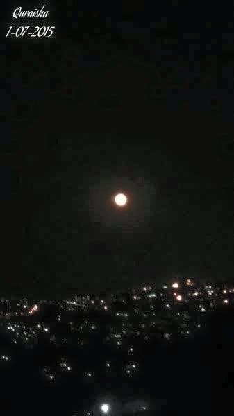 "Quraisha Que Yacoob‎ - ""Full Moon Captured low over Reservoir Hills, Durban...this morning in Parlock at 05:00."""