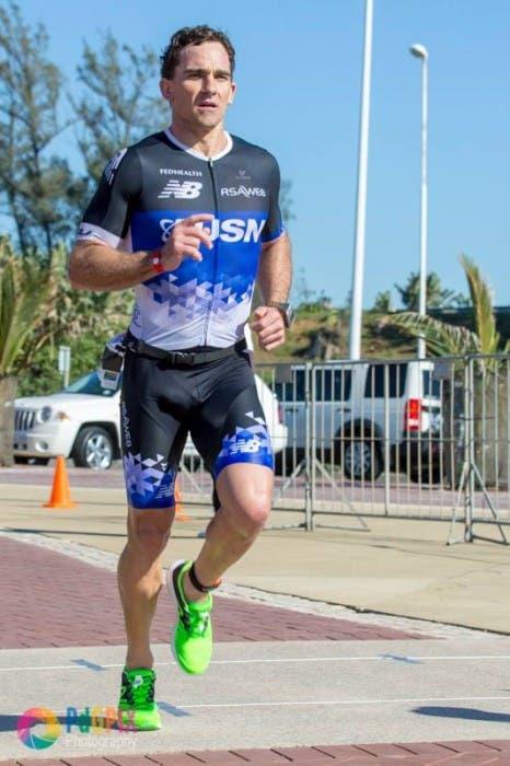 """Peter de Groot - """"Stuart Marais - first ever Standard bank IRONMAN 70.3 Durban champion - run"""""""