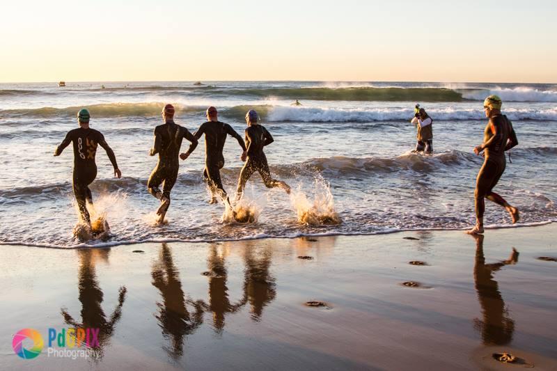 """Peter de Groot - """"Stuart Marais - first ever Standard bank IRONMAN 70.3 Durban champion - swim"""""""