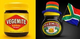 Vegemite in Australia, Marmite in South Africa. Photos: Facebook/Vegemite & Marmite SA pages.