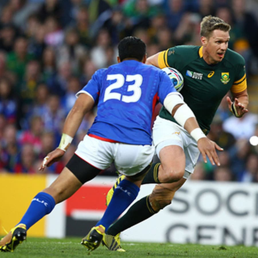 South African captain Jean de Villiers is out of the Rugby World Cup