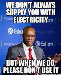 A joke which was published to Eskom's facebook page.