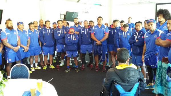Samoan rugby team meet Joost