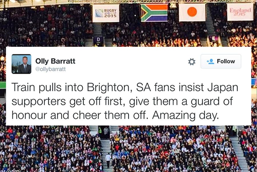 South African supporters tweet
