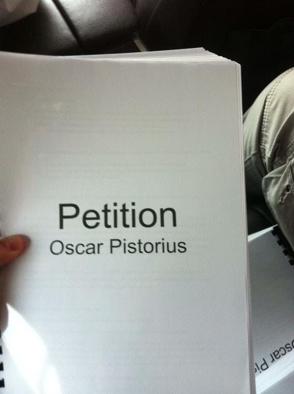 pistorius-petition
