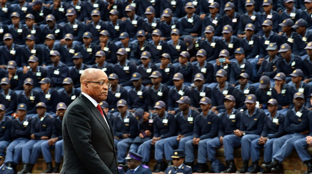 President Jacob Zuma at the South African Police Service Commemoration Day