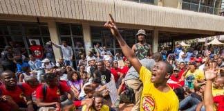 Students protest in Durban, #DurbanShutDown
