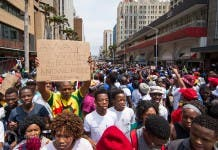 Students protest in Durban, #DurbanShutDown