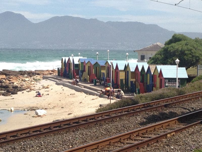 Passing St. James on the train to Simonstown. Photo: Ted Botha